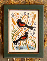 Red Winged Blackbirds cross stitch chart Carriage House Samplings - $8.10