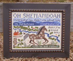 Shenandoah cross stitch chart Carriage House Samplings - $10.80
