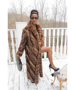 New Full length Swing Designer Mink &Genuine Russian Sable fur Coat M-L ... - $9,999.99