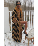 New Designer Full length Black Mink & Genuine Russian Sable fur Coat M-L... - $9,999.99
