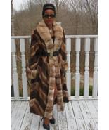 NEW designer full length female pelts Mink& Sable Stone marten fur Coat ... - $7,499.99