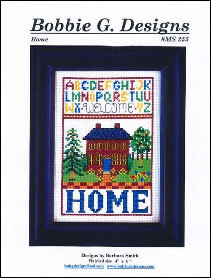 Home cross stitch chart Bobbie G Designs