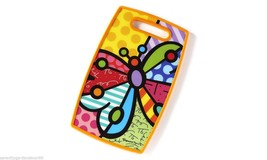 Romero Britto Cutting Board - Butterfly Design -Polypropylene Cut Out Handle NEW