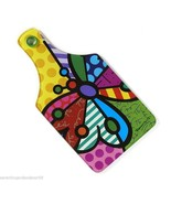 Romero Britto Tempered Glass Cutting Board - Butterfly Design NEW - €23,47 EUR