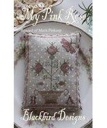 My Pink Rose Pinkeep Reward Of Merit cross stitch chart Blackbird Designs - $7.20