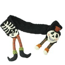 "Gallerie II 68"" Black Orange Extra Soft Eerie Skeleton Halloween Novelty... - €22,06 EUR"