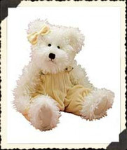 "Boyds Bears ""Winnie Wuzzwhite"" 14"" Plush Bear -#912071-02- NWT - 1999- Retired - $29.99"