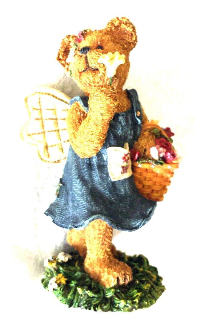 "Boyds Bearstone ""POSIE PICKSABUNCH""- #2277912LB-Longaberger Exclusive- NIB-2002"