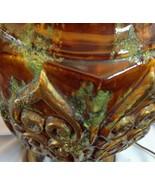 """Mid century Mediterranean Fat Lava Lamps Scrolls Jumbo Brown Green Gold 49"""" Tall - $589.05"""