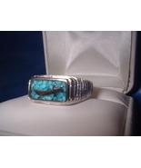 Dagger Turquoise Biker Ring Sz 9 or 10 - $24.50