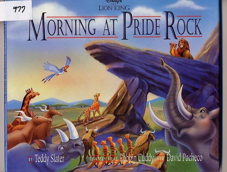 Morning at Pride Rock Lion King HC