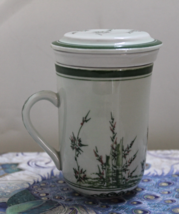 FLORAL Tea Infuser Mug Tea Cup with Strainer & Lid TEA FOR ONE - $9.50