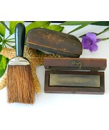 Vintage Barber Tools Wooden Whet Stone Wood Box... - $59.95
