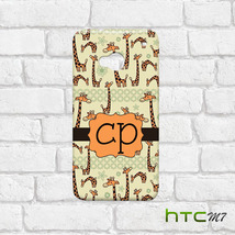 Personalized Initial Name Giraffe Design Pattern Case for HTC One M7 3D ... - $7.00