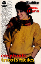 EASY KNITS BEEHIVE PATONS 458 SWEATERS CARDIGANS EASY LACY DOLMAN SLIPOVERS - $4.98