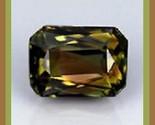 Tourmaline  green  gold  red  brown  emerald cut 3.12ct 10x8mm thumb155 crop