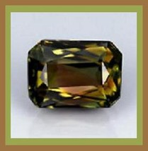 Tourmaline  green  gold  red  brown  emerald cut 3.12ct 10x8mm thumb200