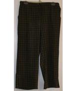 J M COLLECTIONS - PANTS - SIZE 10 - BROWNS & BLACKS LINES -  RAYON/POLYE... - $6.99