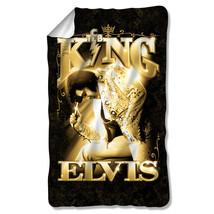 ELVIS PRESLEY THE KING LICENSED ONE-SIDED FLEECE BLANKET THROW ELV834-BKT1 - $31.95