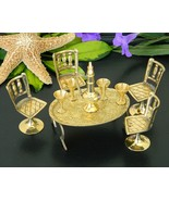 Vintage Brass Miniature Table Chairs Dollhouse ... - $19.95