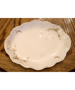 ROYAL JOHNSON BROS Semi PORCELAIN MEAT SERVING PLATTER Blue Floral Scall... - $21.73