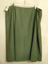 ✿ NWT $148 Talbots Woman Wool Skirt 24W Stretch Fabric made in Italy Warm Career - $29.69