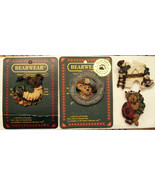 4 Boyds Bears PIN LOT Snowman Friends Bearwear Collection Luck Ladybug &... - $19.75