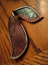 Vintage Huge Rhinestone Pin With Rhinestones Bold Statement Piece Un Signed - $19.75