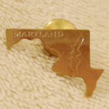 1980's Vintage State of Maryland Tack Pin Travel Souvenir Estate Jewelry  - $9.84