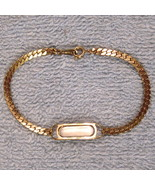 NEW without Box ID Bracelet Gleaming Gold Tone Engravable with Herringbo... - $14.80