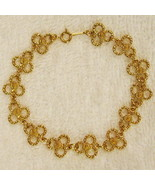 NEW w/o Box 1988 Gilded Lace BRACELET Gold Tone Florettes Shamrocks Clov... - $12.82