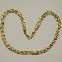 "RETRO VINTAGE Necklace Gold Tone WOVEN Faux Pearl Bead, 18"" long NOS - $17.77"