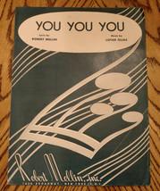 VINTAGE Collectible SHEET MUSIC Robert Mellin YOU YOU YOU Lotar Olias AL... - $5.89