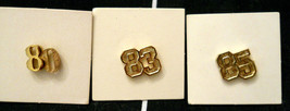CHOICE of Vintage 1980s Anniversary Special Date Scatter Pin Hat Lapel Tack Back - $9.84