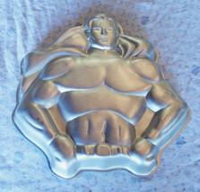 VINTAGE SUPERMAN DC COMICS Batman Super Hero -  1977 WILTON Cake Pan Bak... - $24.70
