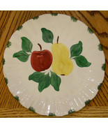 ✿ Blue Ridge Dinner Plate Hand Painted Southern Potteries Red Apple Yell... - $29.69