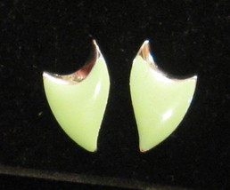 VINTAGE 70's DELTA SHIELD Pierced Earrings Not Signed Futurist Star Trek... - $24.70