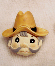 Collectible VINTAGE NOVELTY Lapel Pin PROSPECTOR GOLD MINER COWBOY Plastic - $9.84