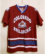 NHL COLORADO AVALANCHE Youth HOCKEY JERSEY Mighty Mac Winning Goal LARGE... - $24.70