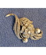 1980's True VINTAGE Kenneth Jay LANE Faux Marcasite PIN Brooch KJL Colle... - $49.45