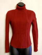 Tommy Hilfiger Red Turtleneck Sweater Small Soft Warm Oxblood Cotton Kni... - €22,01 EUR