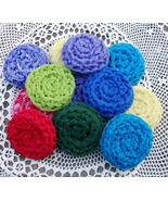 4 Hand Crocheted Dish Scrubbies Kitchen Handmad... - $7.99