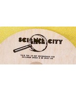 Whirligig spinning Top, Science City, custom imprint, Toycrafter 1989 - $4.75
