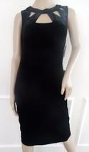 Nwt Eliza J Velvet Cutout Cocktail Party Sheath Dress Sleeveless Sz 4 Black $148 - $62.32