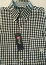 Men's New Chaps S/S Easy Care Button Front Shirt Size S Small Nwt $50 Msrp F/S - $17.59