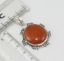 Orange Aventurine Silver Overlay Handmade Pendant Jewelry -As-23-7 - $3.59