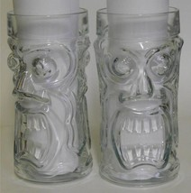 Anchor Hocking ~ Screaming Tiki ~ 3D 2 Sided Face Tiki Heavy Glass Tumbl... - $49.95