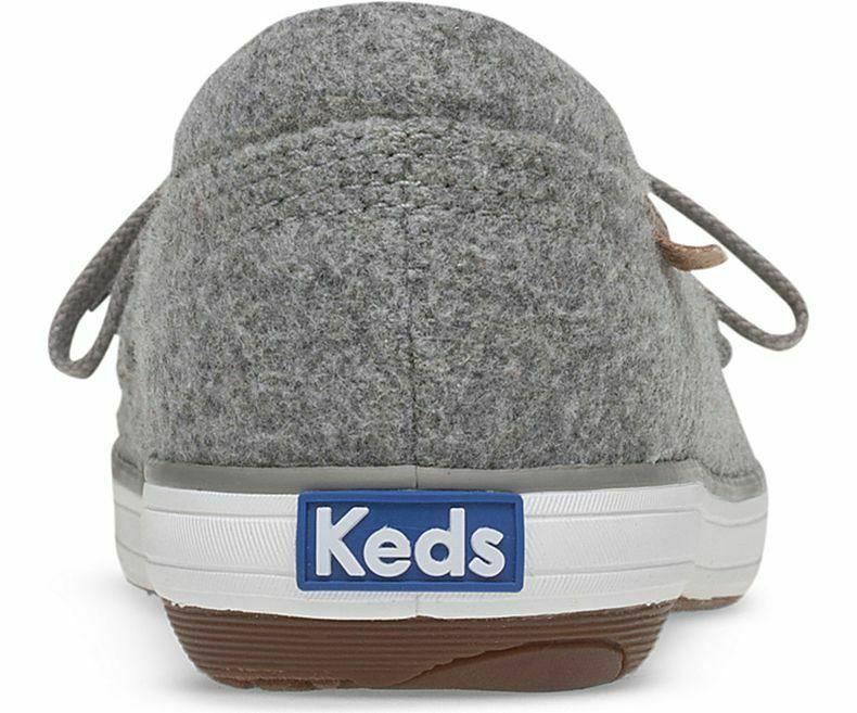 Keds WF58434 Women's Glimmer Felt Lt Gray Shoes, 7 Med