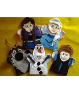 Frozen felt hand Puppets Anna, Elsa, Olaf, Kristoff and Sven - $30.00