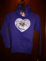 BALTIMORE RAVENS HOODIE SWEATSHIRT NFL TEAM APPAREL GIRLS XL 14/16 FREE ... - $19.99